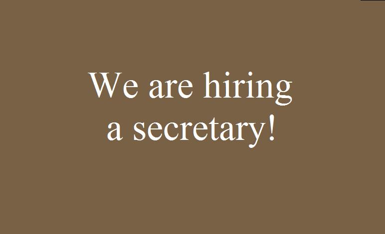 Image result for hiring Secretary